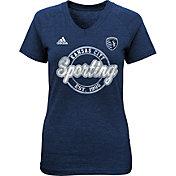 adidas Youth Girls' Sporting KC Dusty Sky Blue T-Shirt