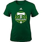 adidas Youth Girls' Portland Timbers Big Logo Green T-Shirt