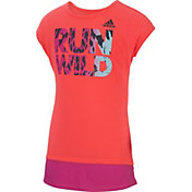 adidas Little Girls' Neon Run Wild T-Shirt