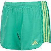 adidas Girls' 3-Stripes Mesh Shorts