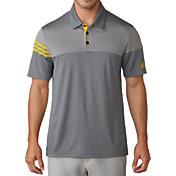 adidas Men's 3-Stripes Heather Block Golf Polo