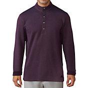 adidas Men's Button-Up Pique Golf Henley