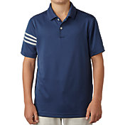 adidas Boys' climacool 3-Stripes Golf Polo