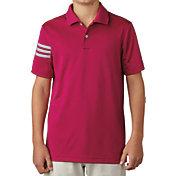 adidas Boys' climacool 3-Stripes Golf Polo