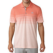 adidas Men's Gradient Stripe Pique Golf Polo