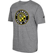 adidas Men's Columbus Crew Vintage Crest Grey T-Shirt