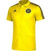 adidas Men's Columbus Crew Yellow Coaches Polo