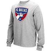 adidas Men's FC Dallas Long Sleeve Grey T-Shirt
