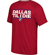 adidas Men's FC Dallas Local Saying Dassler Red T-Shirt