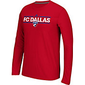 adidas Men's FC Dallas Dassler Ultimate Red Long Sleeve Shirt
