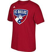 adidas Men's FC Dallas Logo Red T-Shirt