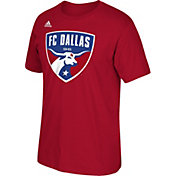 adidas Men's FC Dallas Logo Red T-Shirt