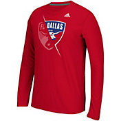 adidas Men's FC Dallas Uncovered Ultimate Red Long Sleeve T-Shirt