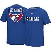 adidas Men's FC Dallas Wordmark Royal T-Shirt