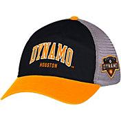 adidas Men's Houston Dynamo Black/Orange Mesh Back Adjustable Hat