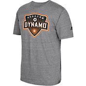 adidas Men's Houston Dynamo Vintage Crest Grey T-Shirt