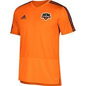 adidas Men's Houston Dynamo Training Orange Performance Shirt