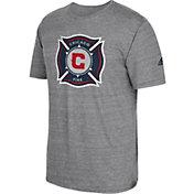 adidas Men's Chicago Fire Vintage Crest Grey T-Shirt