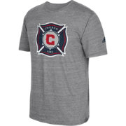 adidas Men's Chicago Fire Vintage Crest Grey T-Shirt