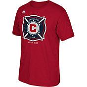 adidas Men's Chicago Fire Basic Logo Red T-Shirt