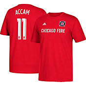 adidas Men's Chicago Fire David Accam #11 Player Red T-Shirt
