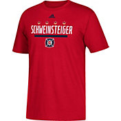 adidas Men's Chicago Fire Schweinsteiger Logo Red T-Shirt