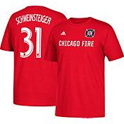 adidas Men's Chicago Fire Bastian Schweinsteiger #31 Player Red T-Shirt
