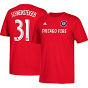 adidas Men's Chicago Fire Bastian Schweinsteiger #31 Player Red T-Shirt