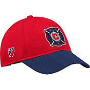 adidas Men's Chicago Fire Authentic Slouch Red Adjustable Hat
