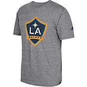adidas Men's Los Angeles Galaxy Vintage Crest Grey T-Shirt