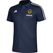 adidas Men's Los Angeles Galaxy Navy Coaches Polo