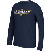 adidas Men's Los Angeles Galaxy Dassler Ultimate Navy Performance Long Sleeve Shirt