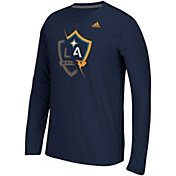adidas Men's LA Galaxy Uncovered Ultimate Navy Long Sleeve T-Shirt