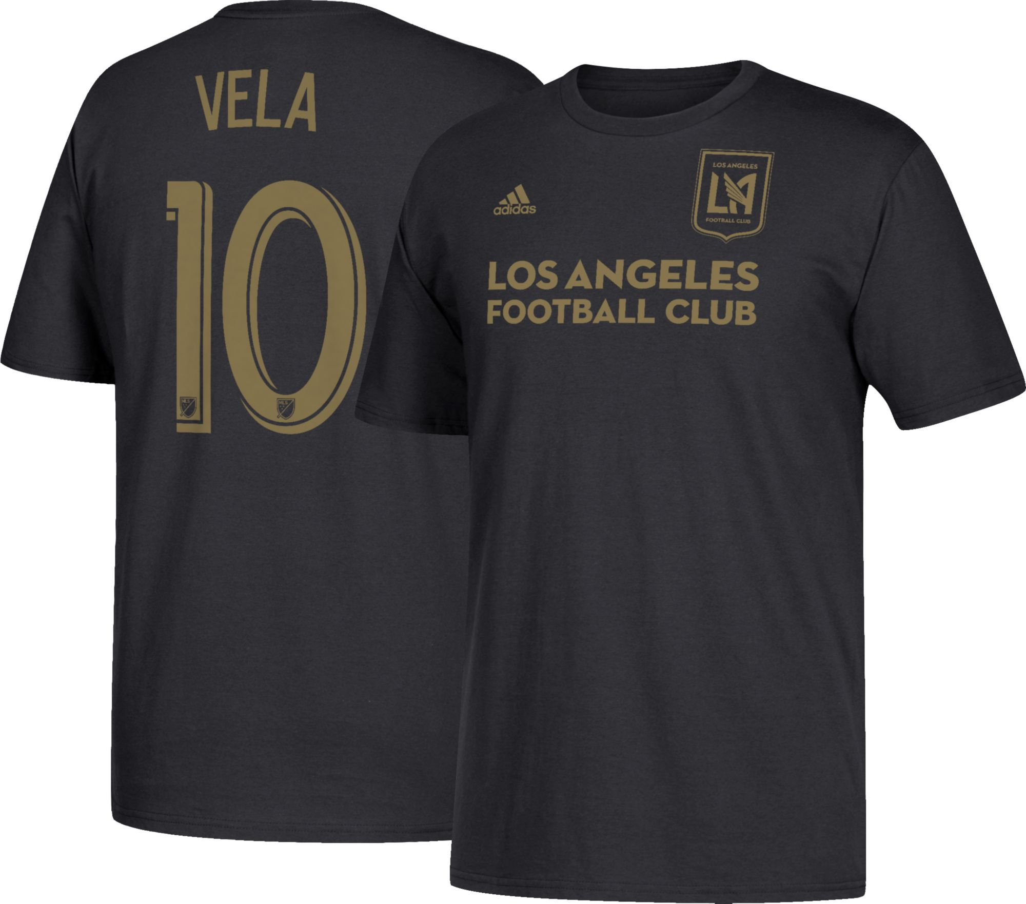 Adidas uomini di los angeles e carlos vela 10 nero t - shirt dick