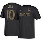 adidas Men's Los Angeles FC Carlos Vela #10 Black T-Shirt