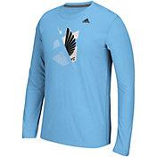 adidas Men's Minnesota United FC Uncovered Ultimate Blue Long Sleeve T-Shirt