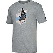 adidas Men's Minnesota United FC Vintage Crest Grey T-Shirt