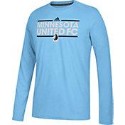 adidas Men's Minnesota United FC Dassler Ultimate Blue Performance Long Sleeve Shirt