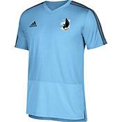adidas Men's Minnesota United FC Training Blue Performance Shirt