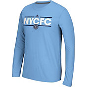 adidas Men's New York City FC Dassler Ultimate Blue Long Sleeve Shirt
