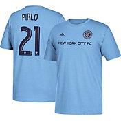 adidas Men's New York City FC Andrea Pirlo #21 Player Blue T-Shirt
