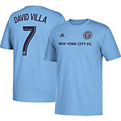 adidas Men's New York City FC David Villa #7 Player Blue T-Shirt