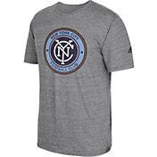 adidas Men's New York City FC Vintage Crest Grey T-Shirt