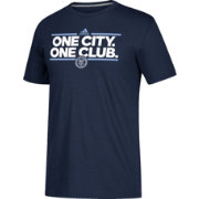 adidas Men's New York City FC Dassler Local Saying Navy Performance T-Shirt