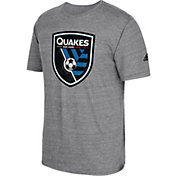 adidas Men's San Jose Earthquakes Vintage Crest Grey T-Shirt