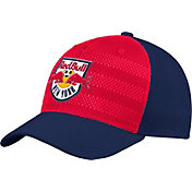 adidas Men's New York Red Bulls Authentic Structured Nacy/Red Flexfit Hat