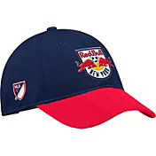adidas Men's New York Red Bulls Authentic Slouch Navy Adjustable Hat