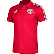 adidas Men's New York Red Bulls Red Coaches Polo