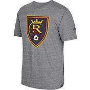 adidas Men's Real Salt Lake Vintage Crest Grey T-Shirt