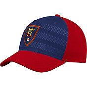 adidas Men's Real Salt Lake Authentic Structured Maroon/Navy Flexfit Hat
